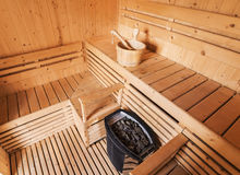 Sala da sauna fotos de stock