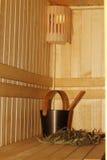 Sala da sauna Imagens de Stock