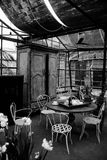 Sala da tè del giardino Fotografia Stock Libera da Diritti