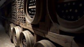 Sala de armazenamento do vinho vídeos de arquivo