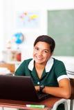 Sala de aula adolescente da menina imagens de stock