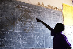 Sala de aula africana imagem de stock