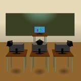 Sala de aula de Webinar ilustração do vetor