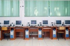 Sala de aula do computador Imagem de Stock Royalty Free