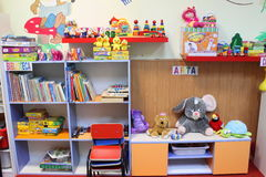 Sala de aula do jardim de infância Imagem de Stock