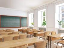 Sala de aula vazia da escola rendição 3d Imagens de Stock Royalty Free