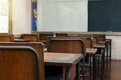 Sala de aula vazia sem feriado de escola dos povos imagem de stock royalty free