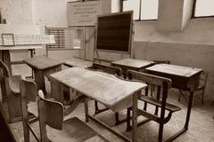 Sala de aula velha imagem de stock