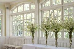 Sala de banquetes de la boda Imagenes de archivo