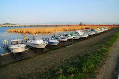 Sala de Boats Higashi del pescador, Niigata Imágenes de archivo libres de regalías