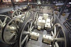 Sala de bombas del teleférico de San Francisco Imágenes de archivo libres de regalías