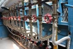 Sala de caldeira do gás fotografia de stock