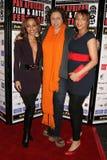 Sala de Caryn con Lydia Martinelli y Daniella Blechner en la premier africana del festival de película de la cacerola de ?Layla?.  Imágenes de archivo libres de regalías