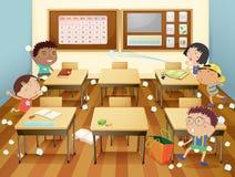 Sala de clase ilustración del vector
