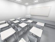 Sala de clase blanca moderna Fotografía de archivo libre de regalías