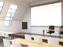 Sala de clase con el lado de la opinión de NY ilustración del vector