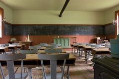 Sala de clase de antaño Foto de archivo libre de regalías