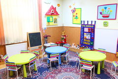 Sala de clase de la guardería Imagen de archivo