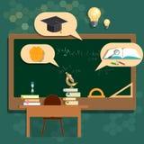 Sala de clase de los consejos escolares de la educación de nuevo a universidad de la escuela stock de ilustración