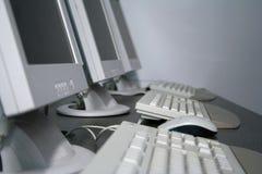 Sala de clase del entrenamiento de ordenador Fotos de archivo libres de regalías