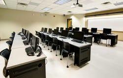 Sala de clase del ordenador Fotografía de archivo