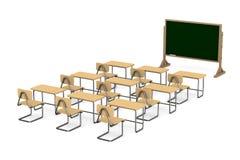 Sala de clase en el fondo blanco Imagen de archivo