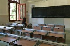Sala de clase en la universidad de Xiamen, China suroriental Fotografía de archivo libre de regalías