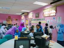 Sala de clase en laboratorio del ordenador Fotos de archivo libres de regalías
