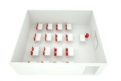 Sala de clase en una caja Imágenes de archivo libres de regalías