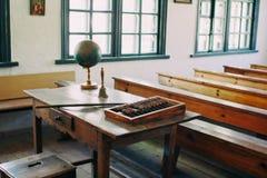 Sala de clase de la escuela del vintage Fotografía de archivo