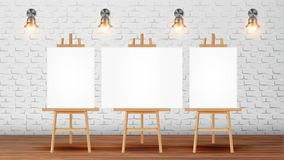Sala de clase para el vector de Course With Equipment del pintor stock de ilustración