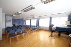 Sala de clase para la instrucción de la música Imagen de archivo