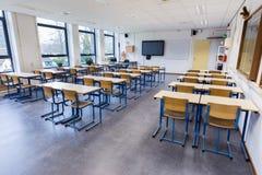Sala de clase para la lección de la biología en High School secundaria Imagenes de archivo