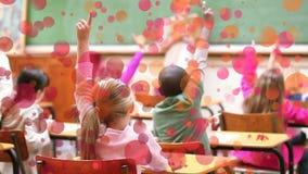 Sala de clase rodeada por efecto de las burbujas