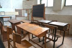 Sala de clase vieja Fotos de archivo