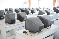 Sala de clase vieja del ordenador Foto de archivo libre de regalías
