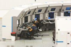 Sala de comando da autoridade dos serviços do tráfico aéreo imagem de stock royalty free