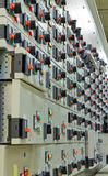 Sala de comando da tensão elétrica de uma planta Imagens de Stock Royalty Free