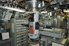 Sala de comando submarina imagem de stock