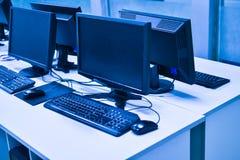 Sala de computador Imagens de Stock