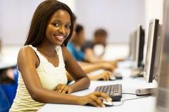 Sala de computador africana Fotografia de Stock