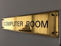 Sala de computador da etiqueta imagens de stock royalty free