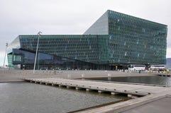 Sala de concertos de Harpa, ReykjavÃk, Islândia imagem de stock