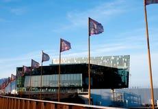"""Sala de concertos Reykjavik do †de Harpa de """"e centro de conferência fotografia de stock"""