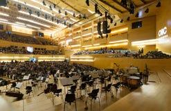 Sala de conciertos Auditori Barcelona, España Imagen de archivo