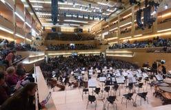 Sala de conciertos Auditori Barcelona, España Fotos de archivo libres de regalías