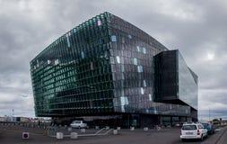Sala de conciertos de la arpa en Reykjavik Fotografía de archivo