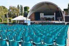 Sala de conciertos del verano al aire libre en el parque Fotos de archivo