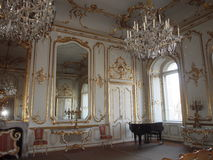 Sala de conciertos en el palacio de Festetics, Keszthely, Hungría foto de archivo