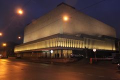 Sala de conciertos grande de Oktyabrskiy (St Petersburg) Imagen de archivo